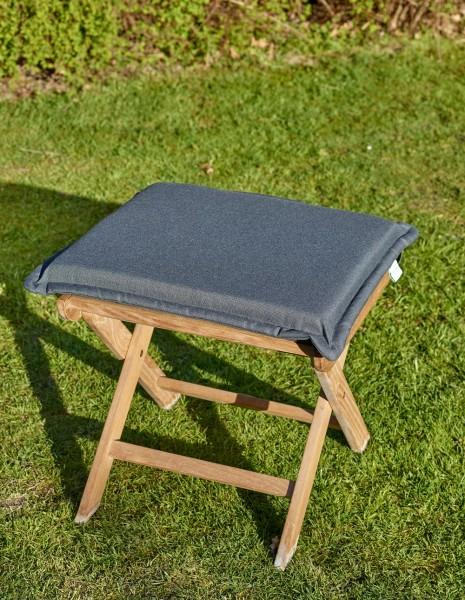 Polster für Hocker/Sessel, grau, 42 x 35 x 5 cm, Polsterauflage, Gartenpolster, Auflage, Garten