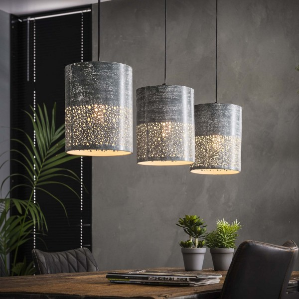 "Hängelampe ""Seegaard"" 3 Lampenschrime Betonoptik (B/T/H) Deckenlampe Zijlstra"