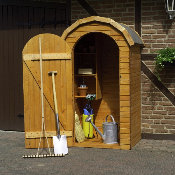 """Geräteschrank """"Tom"""", Kiefer, honigbraun, 110 x 83 x 180 cm, Gartenschrank, Outdoorschrank, Garten"""