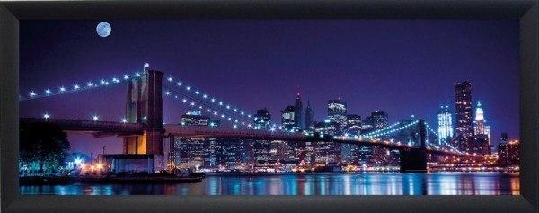 """Bild Wandbild Kunstdruck """"NY at Night"""" 150 x 52 cm"""
