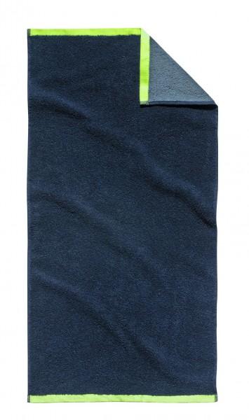 """Tom Tailor Handtuch 2er-Set """"Oskar"""", 50 x 100 cm, navy, Badezimmerhandtuch, Badezimmer"""