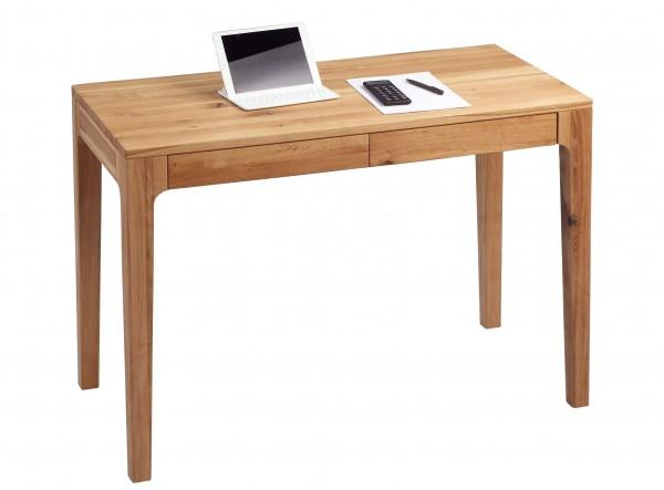 """Schreibtisch """"Diana 2"""", massive Wildeiche geölt, mit Schubladen, 110x76x55cm"""