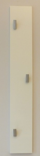 "Wandgarderobe ""Ylva"", 80 x 12 x 5 cm, weiß HG, Garderobe, Flurgarderobe, Flur"