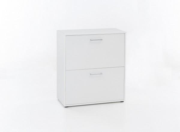 "Kommode ""Bonny"", weiß, 73 x 85 x 37 cm, 2 Klappen, Schuhkommode"
