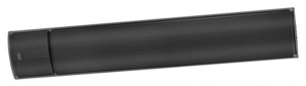 """1x Outdoor Heatpanel 2400 RC Eurom Terrassenheizstrahler Heizstrahler """"Black Line 3"""", 2400 Watt, 144,5 x 20 x 5 cm, dunkel Heizstrahler"""