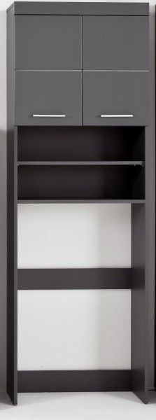 "Waschmaschinenschrank ""Brendan"", 63 x 187 x 24 cm, grau/Agave grau HG, Badezimmerschrank, Badezimmer"