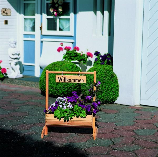 """Blumentrog """"Nadja"""", Kiefer, natur, 59 x 30 x 73 cm, Blumenpflanzkasten, Pflanzkasten, Garten"""