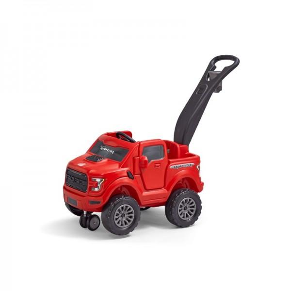 """Kinderauto """"Redman"""" in rot mit Schiebegriff aus Kunststoff 128x52x100cm Auto"""
