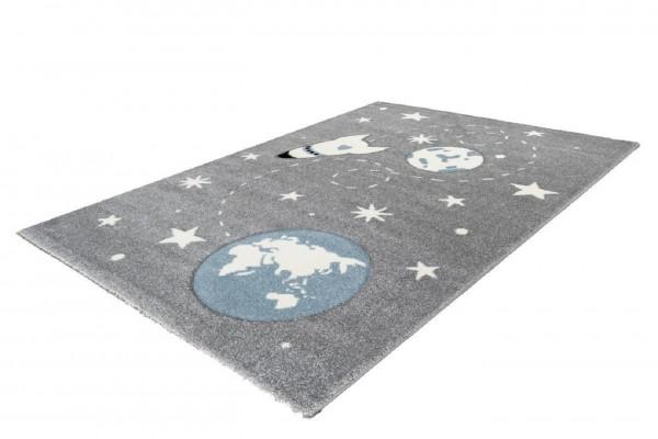 """Kinderteppich """"Luca"""" silber 80x150cm 120x170cm Teppich Kurzflorteppich Spielteppich"""