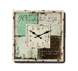 "Wanduhr ""Wonderful Life"" 40x40 cm"