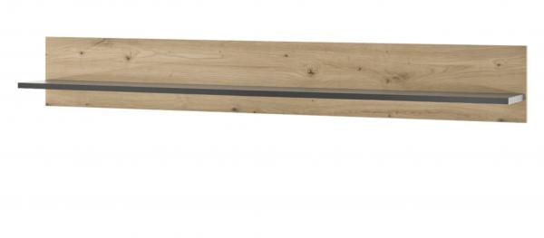"Wandboard ""Helene"" Eiche Artisan Dekor 1x Ablageboden 138x20x20cm Wandregal Regal"