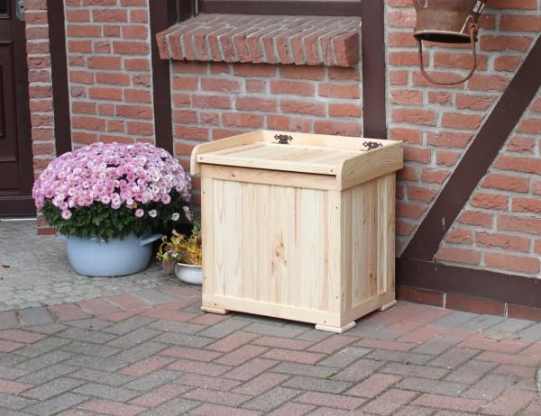 """Kissenbox """"Marvin"""", Kiefer, natur, 56x43x56cm, Auflagenbox, Gartenmaterialbox, Gartenbedarf, Garten"""