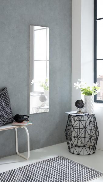 """Spiegel """"Anka 1"""", Beton, 33 x 125 x 2 cm, ohne Rand, große Spiegelfläche"""