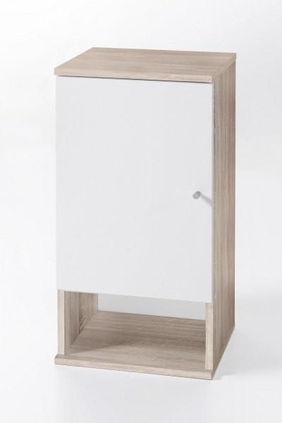 """Hängeschrank """"Tobi 2"""", Sonoma Eiche/weiß, 1 Tür, 1 offenes Fach, 35x70,5x32cm"""