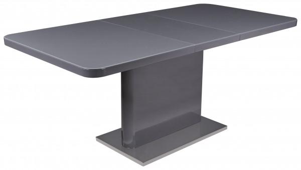 """Esstisch """"Olivia"""", HG grau, Grauglasplatte, Edelstahl, 140-180x76x90cm, Tisch, Küchentisch, Küche"""
