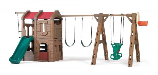 """Kinderspielhaus """"Simba"""" groß aus Kunststoff 300x550x220cm mit vielen Möglichkeiten"""