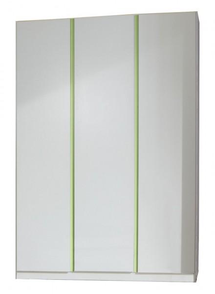 """Kinderzimmerschrank """"XL Donkey Apple"""" Alpinweiß, Apfelgrün, 135x198x58 cm"""