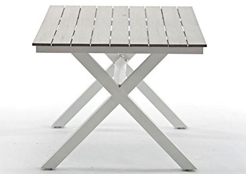 """Gartentisch """"Lilieblu"""" Esstisch 150x90 cm Tisch Gartentisch Alu Weiß Alutisch Weiß"""