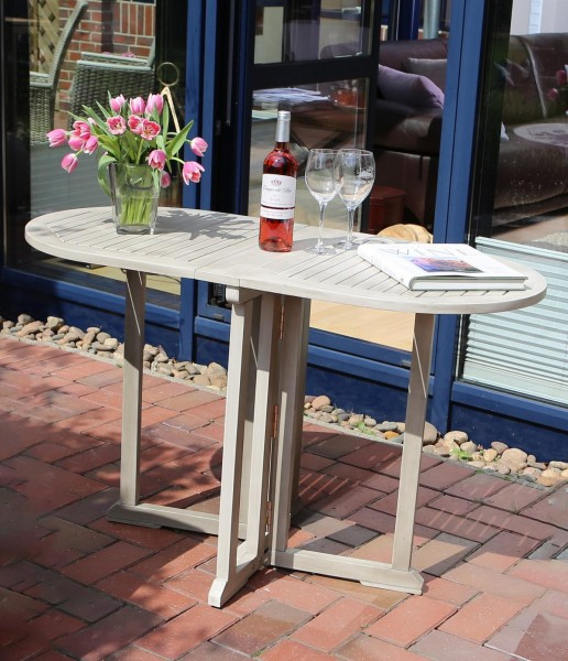 """Tisch """"Melissa"""", Akazie, 120 x 60 x 74 cm, PU-Lackbeschichtet, Gartentisch, Balkontisch, Garten"""
