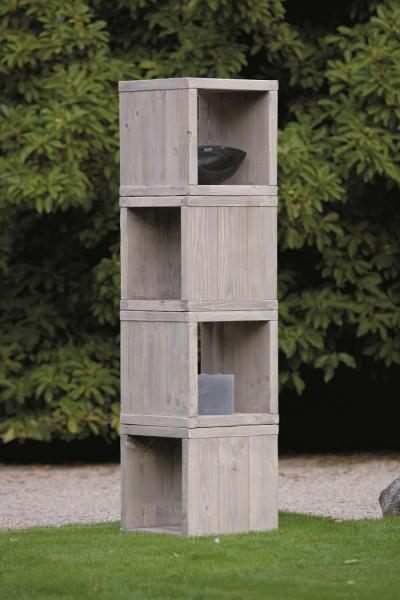 """Designer Würfel """"Viktoria"""", Holz, 47 x 47 x 47 cm, 4er-Set, Hocker, Beistelltisch, Dekoregal, Regal"""