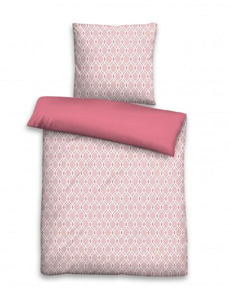 Beautyscouts Microfaser Seersucker Bettwäsche Elfi Rose 135 X