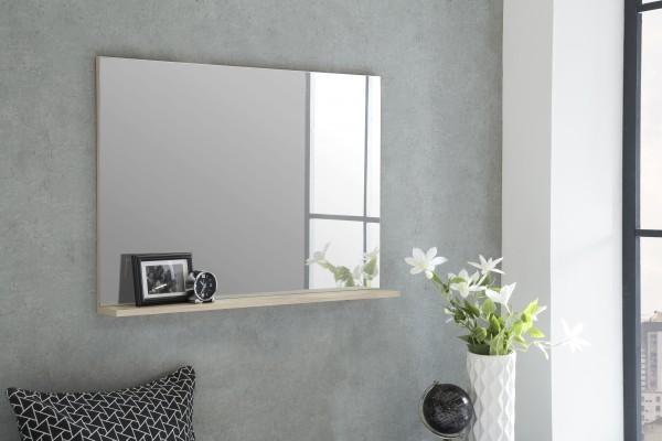 """Spiegel """"Rina 4"""", Eiche sägerau, 85 x 62 x 11 cm, mit Ablage, Spiegelfläche 85 x 60 cm"""