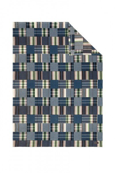 Jacquard Decke Meisterstück blau/braun