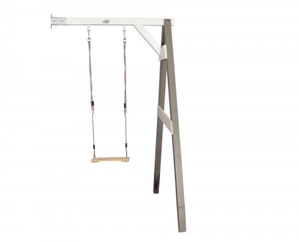 """Einzelschaukel zur Wandbefestigung """"Eden 2"""" Hemlock-Holz in grau 160x171x207cm"""