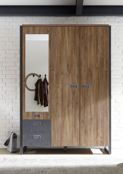 "Kleiderschrank ""Java Medium"" Stirling Oak Nachbildung, 143x202x60cm"