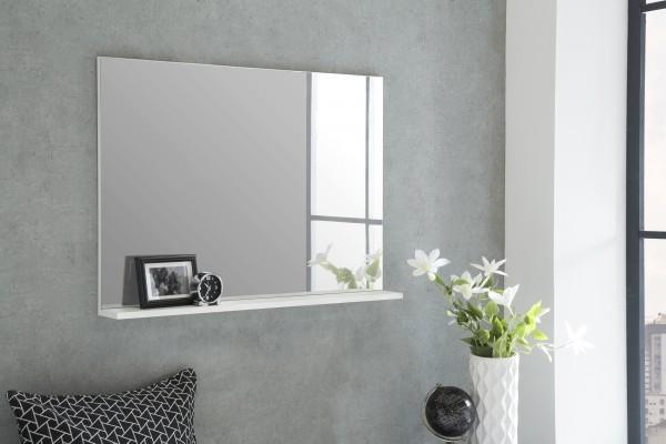"""Spiegel """"Rina 3"""", weiß, 85 x 62 x 11 cm, mit Ablage, Spiegelfläche 85 x 60 cm"""