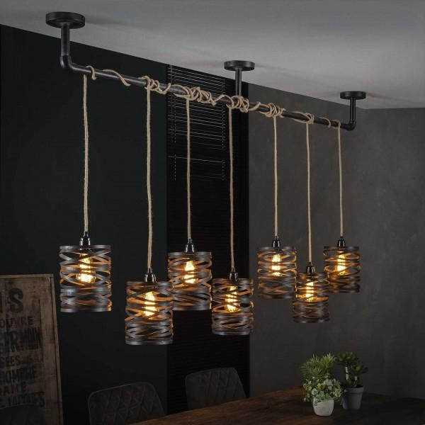 "Hängelampe ""Timola II"" 7 Lampenschirme Metall (B/T/H) Deckenbeleuchtung Zijlstra"