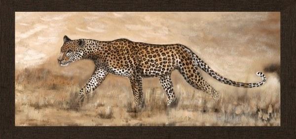 "Bild Wandbild Kunstdruck ""Gepard"" 70 x 33 cm"