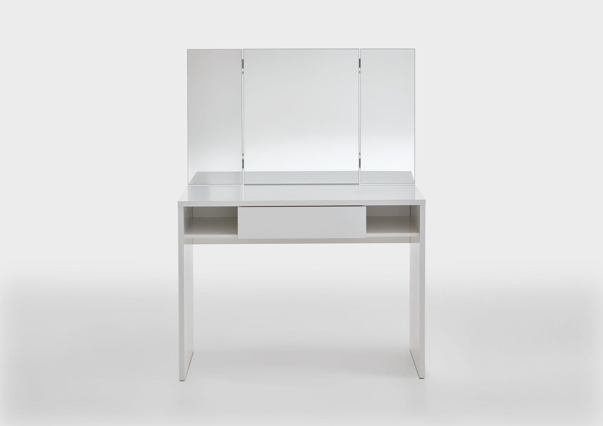 schmink frisiertisch fola wei 100x135 7x41 5cm schminkkommode beauty scouts beauty. Black Bedroom Furniture Sets. Home Design Ideas