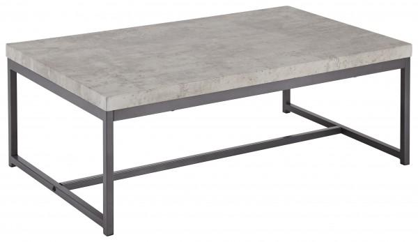 """Couchtisch """"Lilianne II"""" grau Metallgestell Betonoptik graphit 100x60x35cm Wohnzimmertisch"""