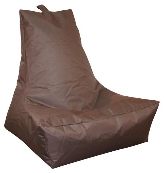 Mesana XXL Lounge-Sessel, 100x90x80 cm, Sitzsack Outdoor & Indoor, wasserabweisend, braun