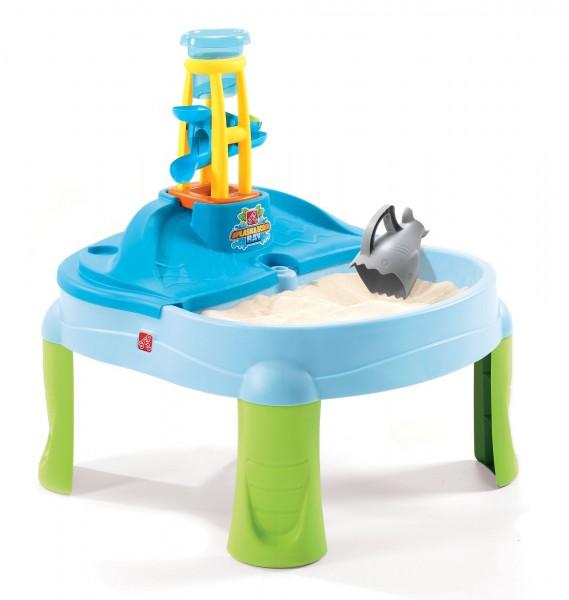 """Wasserspieltisch """"Sunset"""" aus Kunststoff 69,9x69,9x74,9cm Sand- und Wassertisch"""