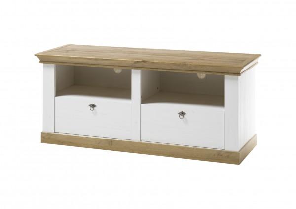 """Lowboard """"Côte d'Azur"""", Pinie weiß/Wotan Eiche NB, 152 x 64 x 52 cm, Unterschrank, Wohnzimmer"""
