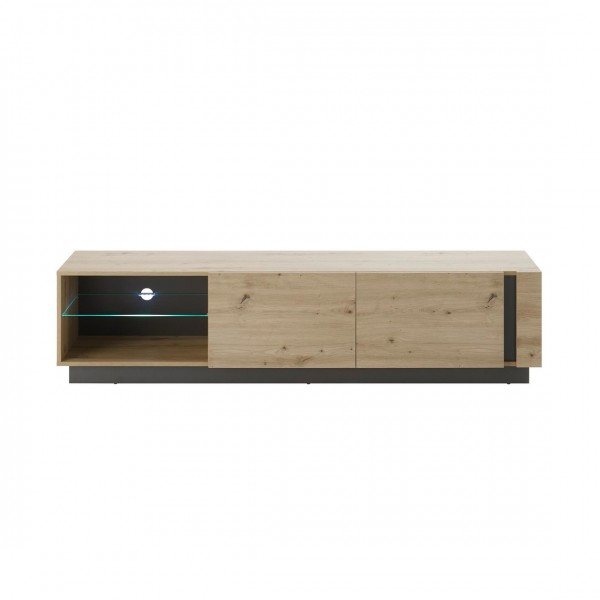 "Lowboard ""Helene"" Eiche Artisan Dekor 2xKlappe Gerätefächer 188x46x40cm TV-Board Schrank"