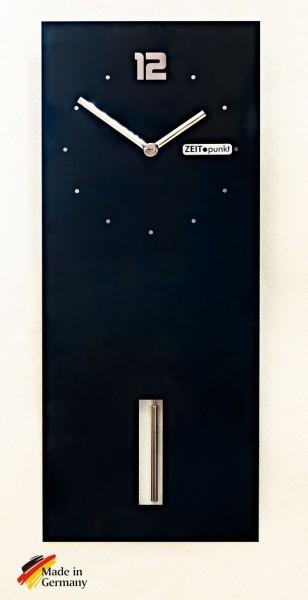 """Wanduhr """"Mandy"""" mit Quartzpendelwerk, Spiegeldruck, 20 x 49 cm, schwarz"""