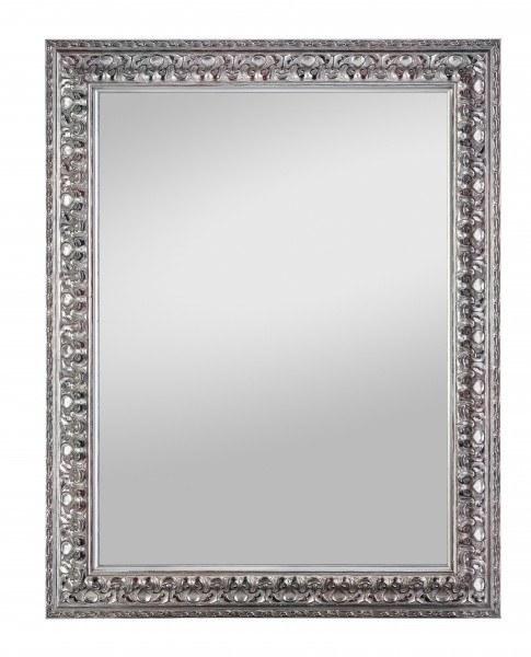 Beauty Scouts Spiegel Wandspiegel Rahmenspiegel Chalan altsilber mit Fcette 55x70 cm
