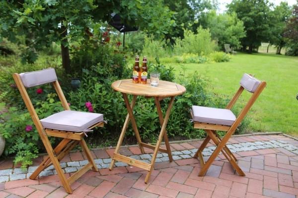"""Gartenmöbelset """"Maura II"""" 2 Gartenstühle1 Gartentisch Loungeset"""