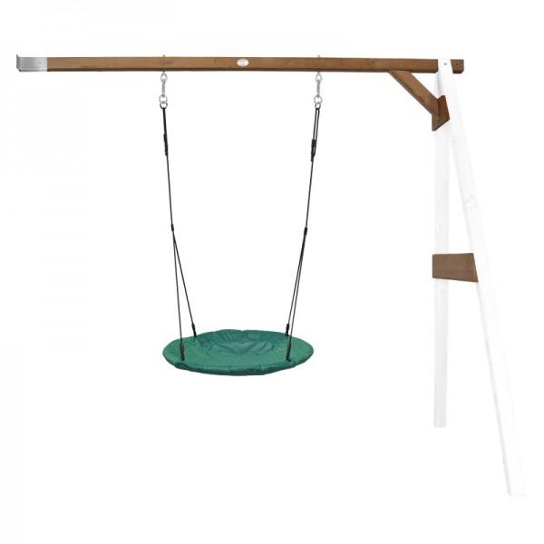 """Nest-Anbauschaukel """"Rake II"""" Nestschaukel Hemlock Holz weiß-braun 160x244x207cm Schaukel"""