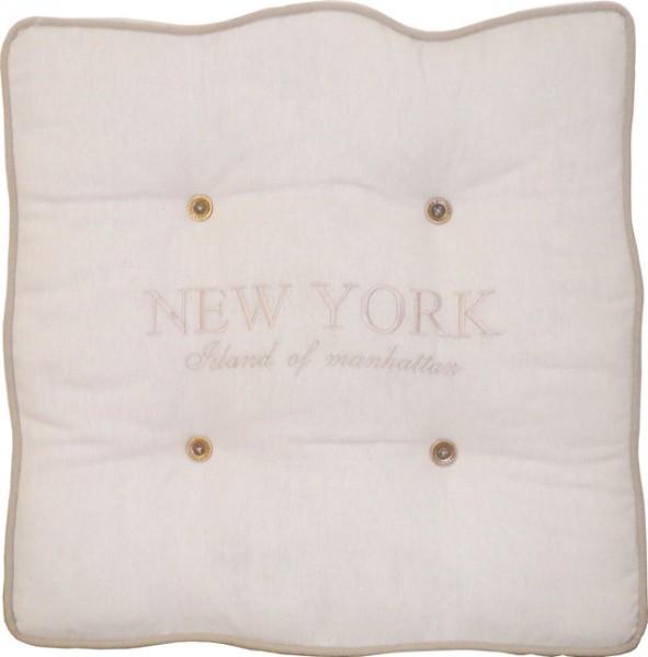 "Beauty.Scouts Kissen Sitzkissen ""New York"" 45x45x7cm weiß"