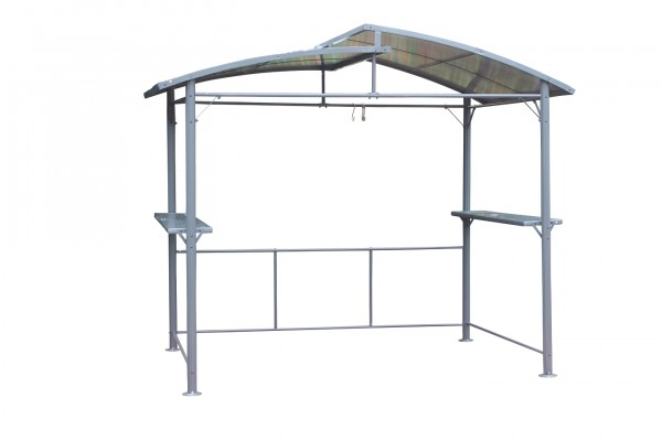 "Grillpavillon ""Profi II"" anthrazit Stahlrohr/Aluminium 275x165x233cm Gartenpavillon"
