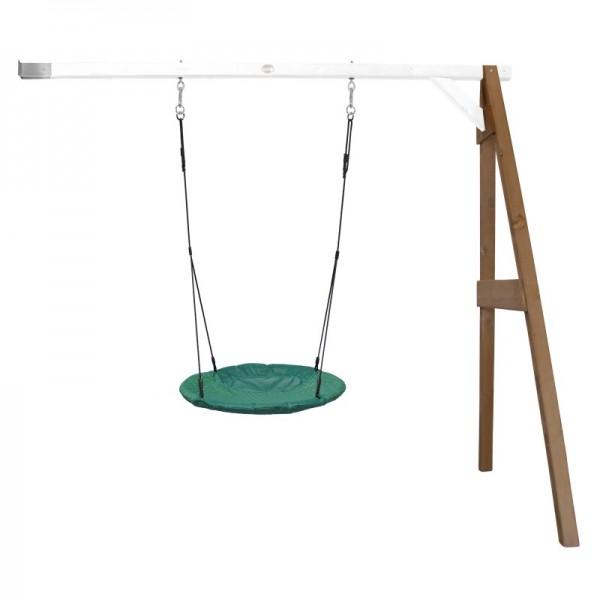 """Nest-Anbauschaukel """"Rake III"""" Nestschaukel Hemlock Holz braun-weiß 160x244x207cm Schaukel"""