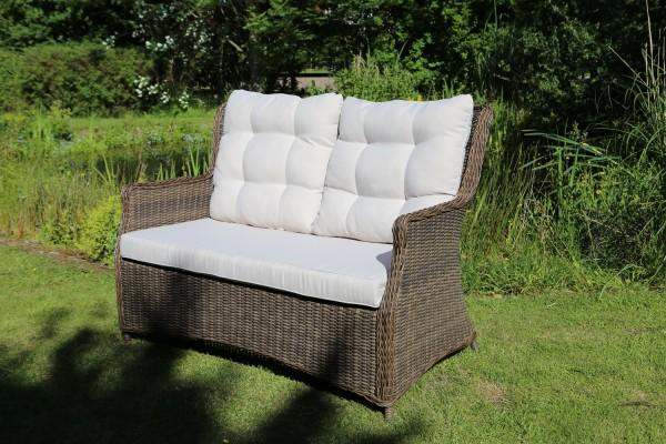 "Sofa ""Sally"", vintage braun/natur, 142 x 100 x 74 cm, inkl. Polster, Loungesofa, Gartensofa, Garten"