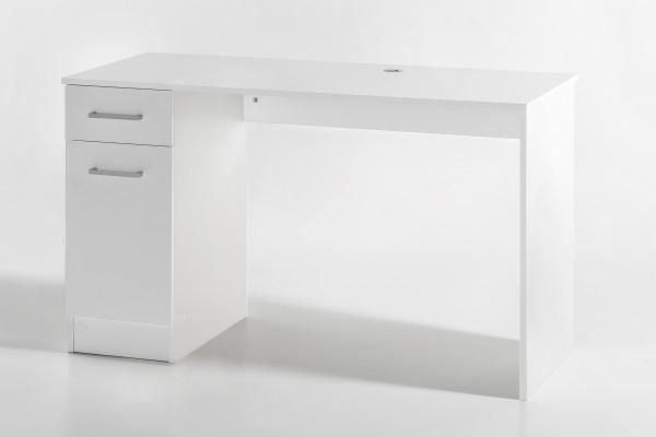"""Nähmaschinentisch """"Lena"""", weiß, Schublade, Schrankfrach, 120x72x50cm"""