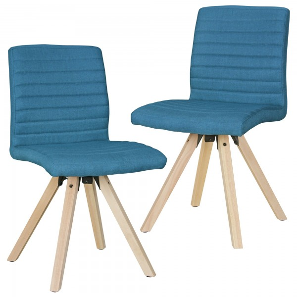 "2er Set Stuhl ""James III"" Petrol Holzstuhl 40x86x46cm Esszimmerstuhl"