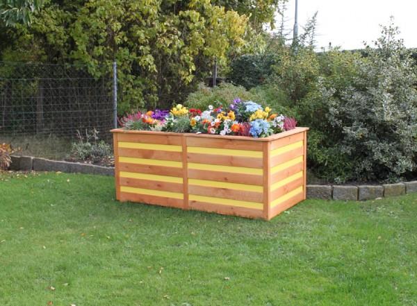 """Hochbeet """"Melina"""", honigbraun/gelb, 150 x 75 x 84 cm, Gartenbeet, Gartenhochbeet, Garten"""