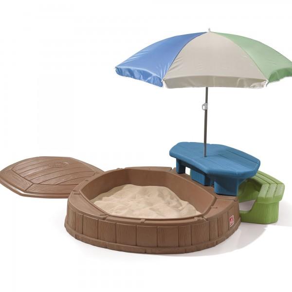 "Sandkasten ""Joe"" bunt aus Kunststoff 177,8x144,8x168,9cm Sandkiste"